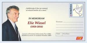 Plic timbru aniversar Elie Wiesel